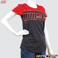 Camiseta de mujer Marc Marquez 93 gris antracita y rojo