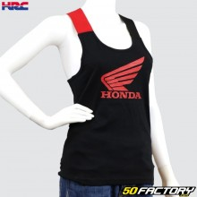 Camiseta feminina preta e vermelha Honda HRC