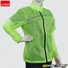 LS2 neon yellow women's rain jacket