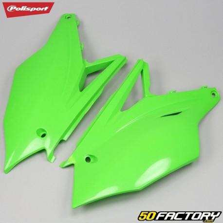 Carenagens traseiras Kawasaki KXF 250, 450 (desde 2017) Polisport verde