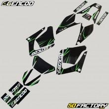 Dekor-kit Yamaha DT-R 125 (von 2004) Gencod Evo grün