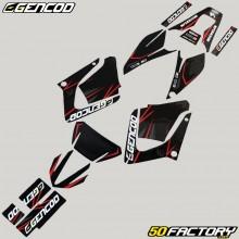 Dekor-kit Yamaha DT-R 125 (von 2004) Gencod Evo rot