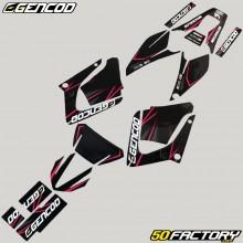 Dekor-kit Yamaha DT-R 125 (von 2004) Gencod Pink evo