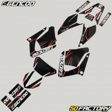 Dekor-kit Yamaha DT-R 125 (von 2004) Gencod Evo Orange
