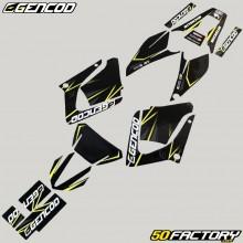 Dekor-kit Yamaha DT-R 125 (von 2004) Gencod Gelbes Evo