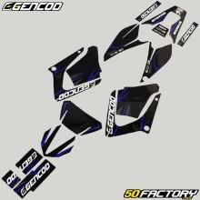 Dekor-kit Yamaha DT-R 125 (von 2004) Gencod Evo blau