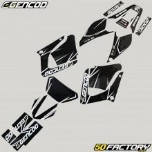 Dekor-kit Yamaha DT-R 125 (von 2004) Gencod Evo weiß