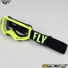 Masque Fly Focus taille enfant jaune fluo et noir