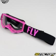 Goggles Fly Focus taille enfant rose et noir