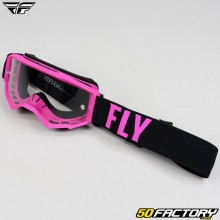 Masque Fly Focus taille enfant rose et noir