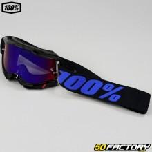 Masque 100% Accuri 2 Moore noir et violet écran iridium rouge et bleu