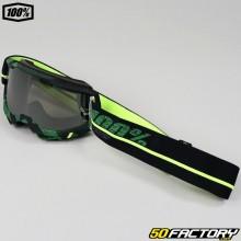Gafas 100% Accuri 2 Overlord negro y verde pantalla iridio plateado