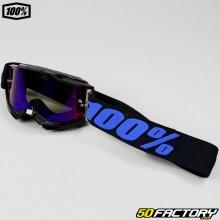Masque 100% Accuri 2 Moore taille enfant noir et violet écran iridium rouge et bleu