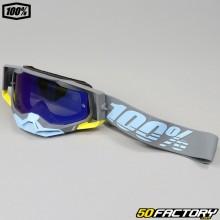Masque 100% Racecraft 2 Trinidad gris écran iridium bleu