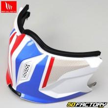 Mentonnière pour casque (modulable jet) MT Helmets Streetfighter Twin bleu, blanc, rouge V1