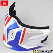 Mentonnière pour casque (modulable jet) MT Helmets Streetfighter Twin bleu, blanc, rouge V2