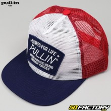 Casquette Pull-in Fisher bleue, blanche et rouge