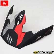 Visière pour casque (modulable jet) MT Helmets Streetfighter Twin noir, rouge mat