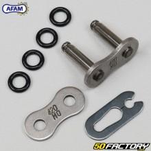 Attache rapide de chaîne 420 Afam (joints toriques) grise