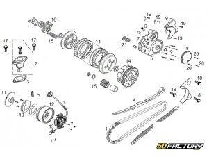 Zylinder und Zylinderkopf - Mash Fifty 50 4T - 50factory com