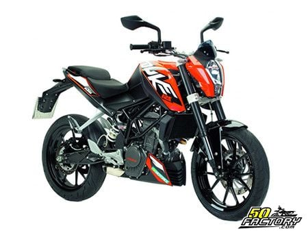fiche technique ktm duke 125cc de 2011 2016. Black Bedroom Furniture Sets. Home Design Ideas