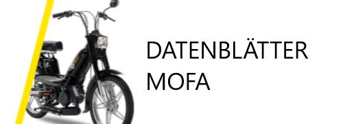 Moped technische Datenblätter